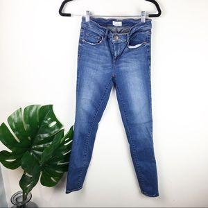 Loft | Medium blue legging denim mid rise size 26